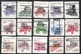 USA Precancel Vorausentwertung Preo, Locals Texas, Hull 745, 15 Diff. Coils - Vereinigte Staaten