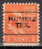 USA Precancel Vorausentwertung Preo, Locals Texas, Humble 701 - Vereinigte Staaten
