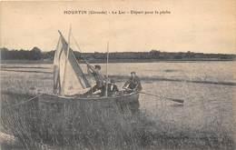 33- HOUTIN- LE LAC- DEPART POUR LA PÊCHE - France