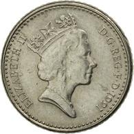Monnaie, Grande-Bretagne, Elizabeth II, 5 Pence, 1991, TB+, Copper-nickel - 1971-… : Monnaies Décimales