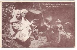 POSTAL   ARZILA  -MARRUECOS - MOROS DESCANSANDO EN EL CAMINO - Tanger