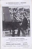 34 - Herault - BEZIERS -  Le Premier Glaive -  Camille Saint Saens En Concert - 1908 - Publicité Grand Café Glacier - Beziers
