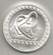 Messico, 100 $, 1992, Guerriero Aquila, Ag. - Messico