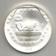 Messico, 5 N$, 1994, Charc Mool, Ag. - Messico