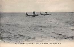 33-CAZAUX-LAC- ECOLE DE TIR AERIEN, SUR LE LAC ( HYDRAVIONS ) - France