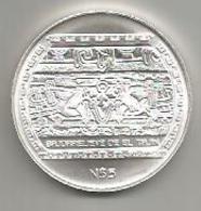 Messico, 5 N$, 1993, Bassorilievo, Ag. - Messico