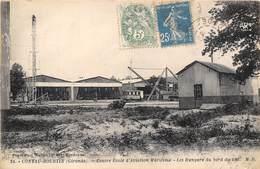 33-CONTAU-HOURTIN- CENTRE ECOLE D'AVIATION MARITIME, LES HANGARD DU BORD DU LAC - France