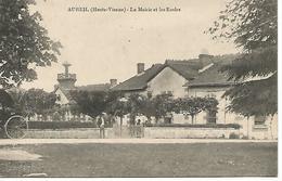 87    Aureil     La Mairie & Les écoles - France