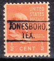 USA Precancel Vorausentwertung Preo, Locals Texas, Jonesboro 802 - Vereinigte Staaten