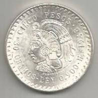 Messico, 5 P., 1948, Cuauhtémoc, Ag. - Messico