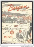 Norwegen - Bergen 1955 - 66 Seiten Mit Vielen Illustrationen - In Englischer Sprache - Reiseführer