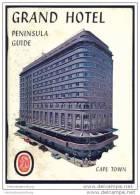 Cape Town - Grand Hotel Peninsula Guide 60er Jahre - 40 Seiten Mit 3 Abbildungen - In Englischer Sprache - Afrika