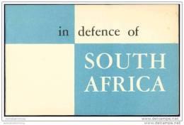 In Defence Of South Africa 50er Jahre  - 16 Seiten - In Englischer Sprache - Africa