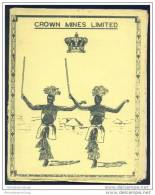 Crown Mines Limited - Programmheft Vom 6. 7. 58 - Inter Tribal Dance - These Are Staged Primarily For The Recreation - Afrika