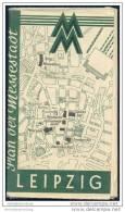 Leipzig 1947 - Plan Der Messestadt - Herausgeber Leipziger Messeamt - Saxe