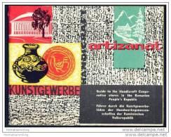 Führer Durch Die Kunstgewerbeläden Der Handwerksgenossenschaften Der Rumänischen Volksrepublik 60er Jahre - 48 Seiten - Rumänien