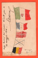 Propaganda Flags Bandiere 1916 Disegni Bambini Venezia I° Anno Di Guerra X Zona Di Guerra - Guerre 1914-18