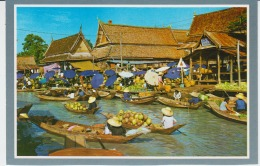 Thailand Floating Market Uncirculated Wat Sai Bangkok - Thailand