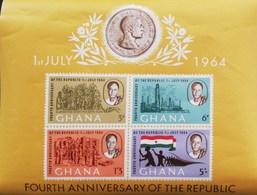 Ghana 1964 Fourth Anniversary Of The Republic S/S - Ghana (1957-...)