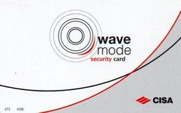 """Carte D'Hôtel """"Hôtel Icone"""" Wave Mode Security Card - Room Key - Chiavi Elettroniche Di Alberghi"""