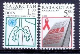 KZ 2001-338-9 Against Aids, KAZAKISTAN, 1 X 2v, MNH - Kazakhstan