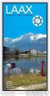 Laax 70er Jahre - Faltblatt Mit 22 Abbildungen - Faltblatt Luftseilbahnen Skilifte Sesselbahnen Fahrplan Und Preise - Svizzera