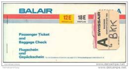 Balair - Zurich Bangkok Zurich - Tickets