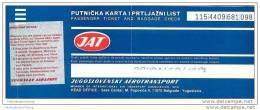 JAT - Jugoslovenski Aerotransport 1989 - Belgrade Singapore Bangkok Belgrade - Tickets