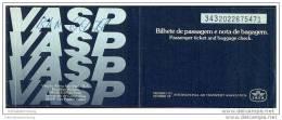 VASP - Brazilian Airlines 1970 - Rio Janeiro Brasilia Rio Janeiro - Tickets