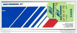 Air France 1982 - Paris Los Angeles Paris - Tickets