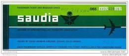 Saudia - Saudi Arabian Airlines 1982 - Geneva Riyadh Jeddah Geneva - Tickets