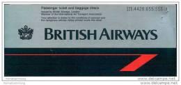 British Airways 1992 - Berlin London Berlin - Tickets