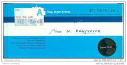 KLM - Royal Dutch Airlines 1978 - Zurich Amsterdam Rio De Janeiro - Tickets
