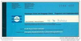 KLM - Royal Dutch Airlines 1968 - Zurich Amsterdam Zurich - Tickets