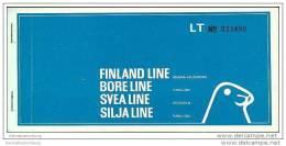 Finland-Line Bore-Line Svea-Line Silja-Line 1972 - Turku Stockholm - Tickets