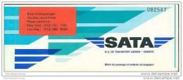 Sata - S.A. De Transport Aerien Geneve 1978 - Zurich New Yorck Zurich - Tickets