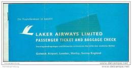Laker Airways Limited - Berlin Ibiza Berlin - Tickets