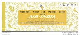 Air-India 1972 - Bangalore Cochin Bangalore Rome - Tickets