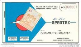 Spantax 1969 - Zurich Palma Zurich - Tickets