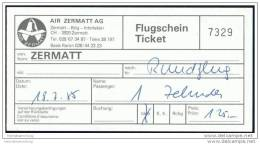Air Zermatt AG 1985 - Rundflug - Tickets