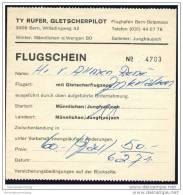 Ty Rufer Gletscherpilot Flughafen Bern-Belpmoos - Flugschein 1971 - Tickets