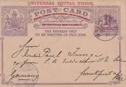 AUSTRALIE 1892 ENTIER  POSTAL CARTE DE MELBOURNE - Entiers Postaux