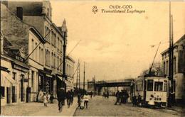 1 Oude Postkaart Mortsel   Oude God   Tram 7 Halte Luythagen  Zie Tekst  Uitg. Van Camp  Winkel In De Ton - Mortsel