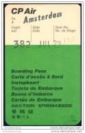Boarding Pass - CP Air - Canadian Pacific Air Lines - Bordkarten