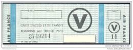 Boarding And Transit Pass - Air France - Bordkarten