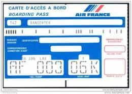Boarding Pass - Air France - Bordkarten