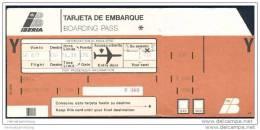 Boarding Pass - Iberia - Bordkarten