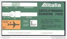 Boarding Pass - Alitalia - Bordkarten