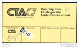 Boarding Pass - CTA Compagnie De Transport Aerien - Bordkarten
