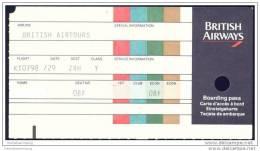 Boarding Pass - BA British Airways - Bordkarten